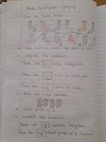 Rayan, Bulu class made equal groups in Maths
