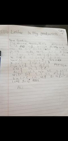Creative writing by Ali, Bulu class