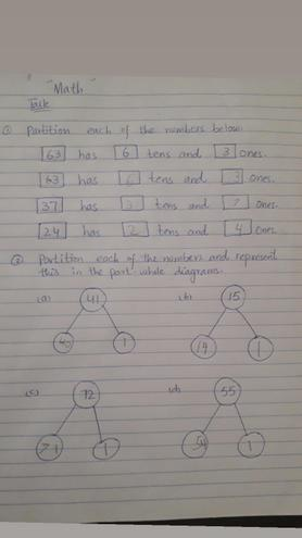 Maths- Partitioning numbers by Rayan, Bulu