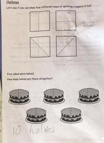 Maths- Finding halves by Rajashree, Nil