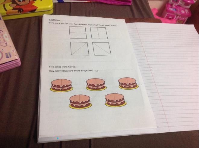 Maths- Finding halves by Prisa, Bulu
