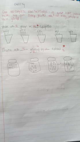 Making equal groups challenge by Fatima, Bulu