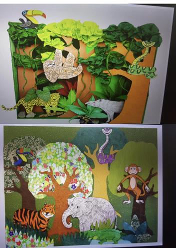 ART - Collage by Noor-E- Fatima, Bulu