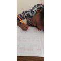 Natasha doing some writing