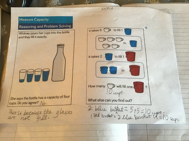 Maths-reasoning by Anaya, Blue class