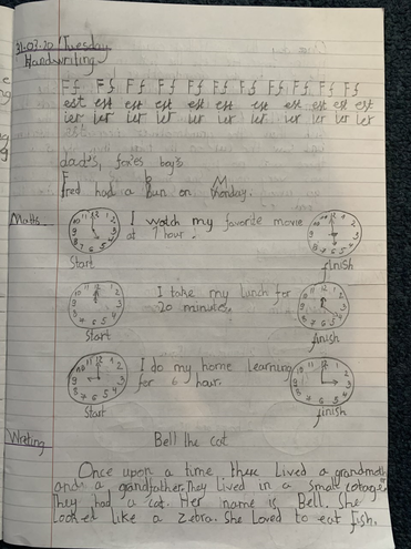 Writing and Maths by Ivayla, Blue class