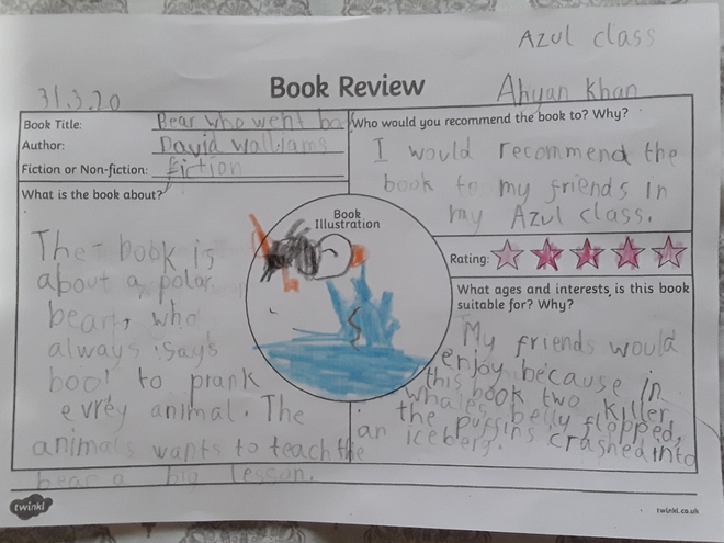 Reading review by Ahyan, Azul class