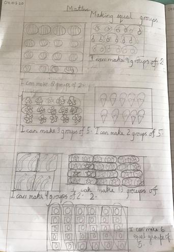 Maths- Sharing amounts equally by Anaya , Blue