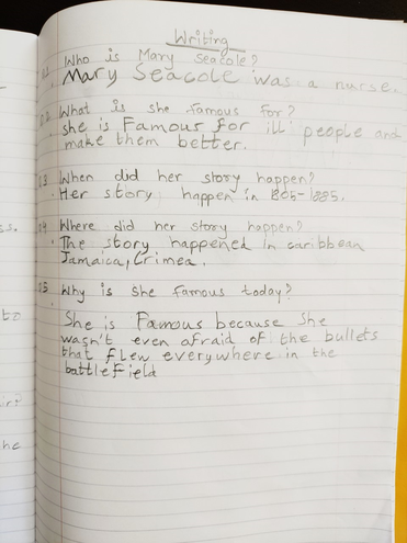 Key facts about Mary Seacole by Aditya, Blue
