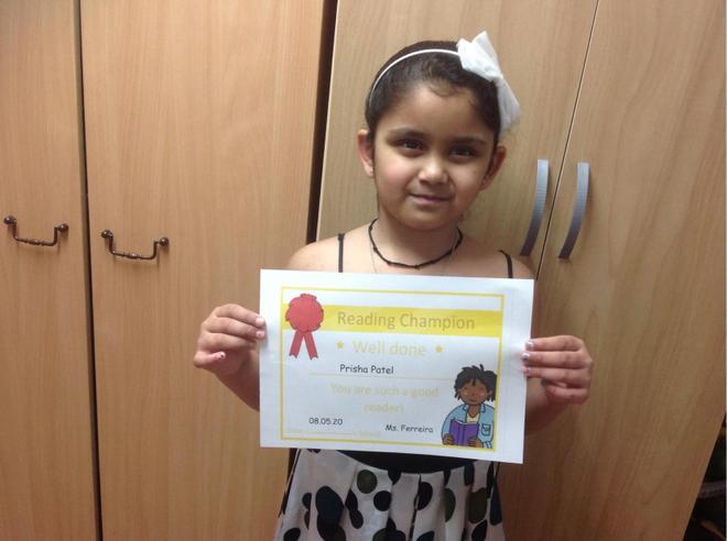 8th May Reading Champion- Prisha Patel, Bulu