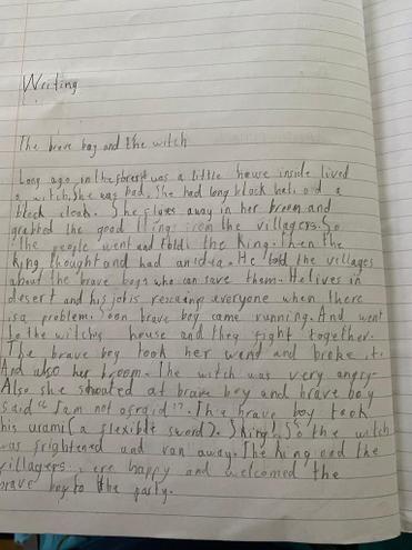 Creative Writing by Pranav, E Kalter class