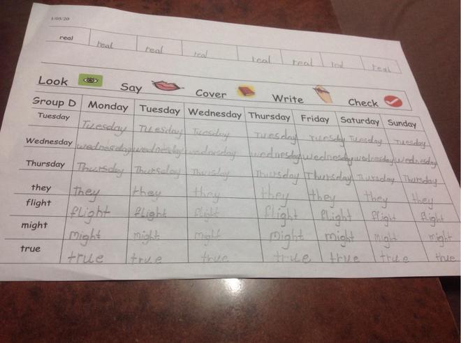 Weekly Spelling by Prisha, Bulu