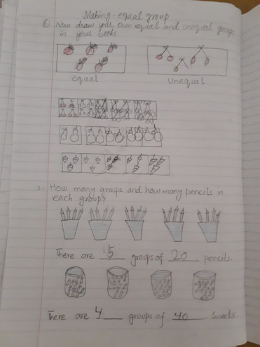 Maths-making equal groups by Rayan