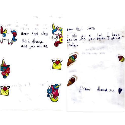 Writing- Message by Ahana, Azul