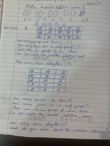 Maths-repeated addition by Logan, Buluug