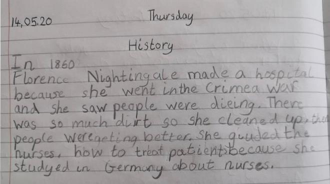History- Florence Nightingale by Ezzah, Azul