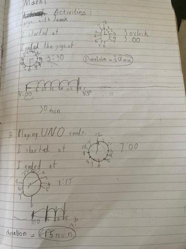 Maths-measuring time by Pranav, E Kalter class