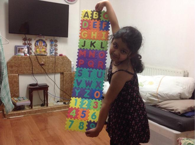 Alphabets and Numbers by Prisha, Bulu