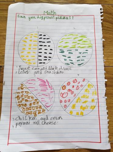 Maths- Finding halves by Fatima, Bulu