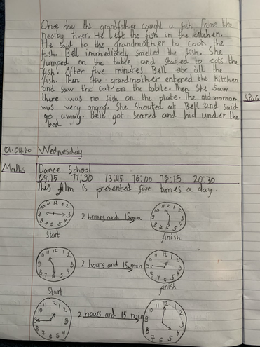 Writing and Maths learning by Ivayla, Blue class