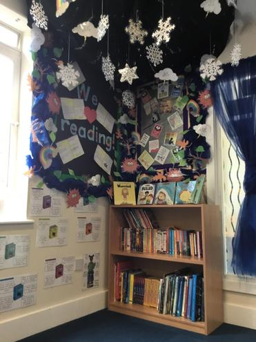 Step into a world of reading in our book corner.