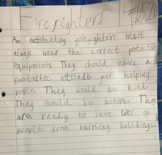Writing- Firefighters by Rajashree, Nil