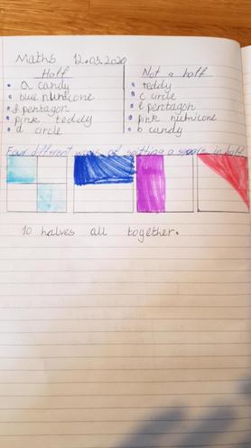 Maths- Recognising halves by Larisa, Bulu