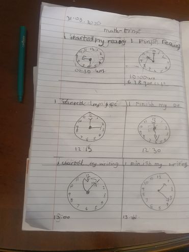 Maths-telling o'clock time by Babatunde,Blue class