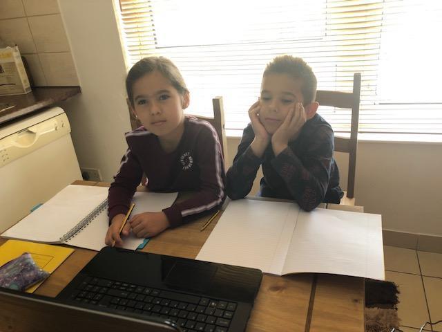 Erind and Erisa hard at work