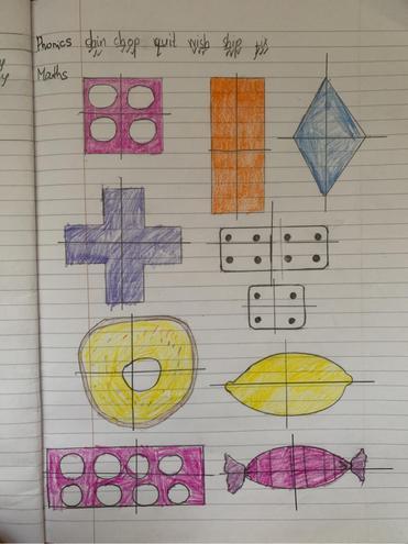 Maths- making quarters by Ivayla, Blue