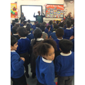 Everybody learnt African songs in our assembly.