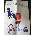 Mother's day card made by Tanvika