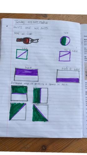 Maths- Finding halves by Guramrit, Bulu
