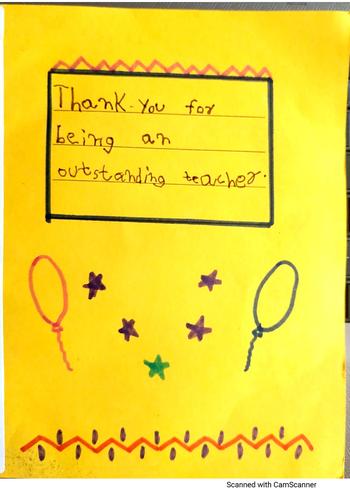 Thank You Teacher from Supratik, Blue