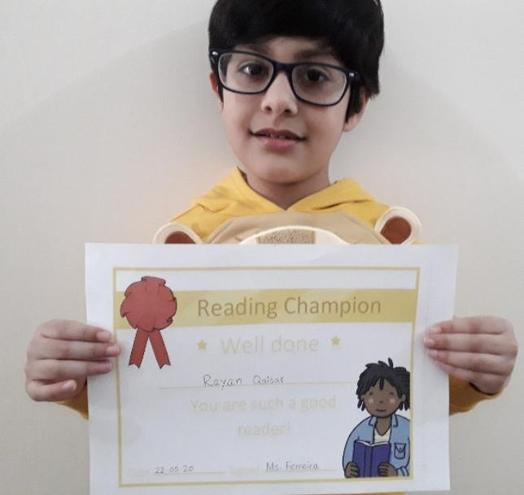 22nd May Reading Champion- Rayan Qaisar, Bulu