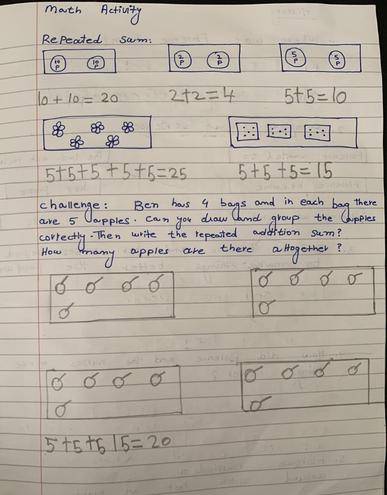 Maths-making arrays by Eshaal, Bulu