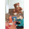 Having a Teddy bears' picnic