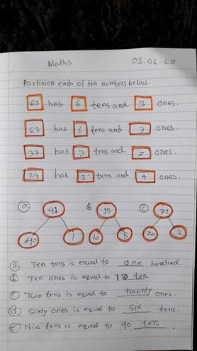 Maths- Partitioning numbers by Nusaibah,Bulu