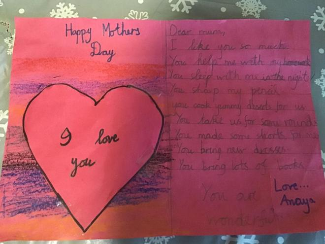 Happy Mothers Day by Anaya, Blue