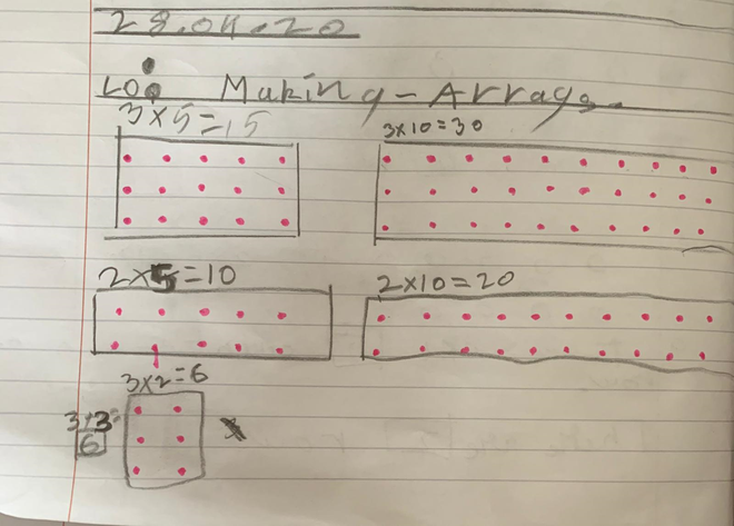 Maths-making arrays by Mukhil, Blue
