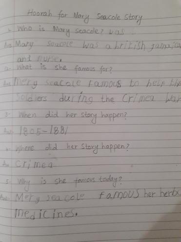Key facts about Mary Seacole by Rayan, Bulu