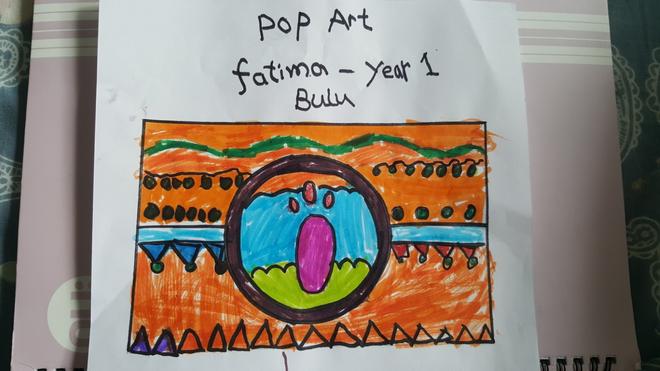 Fantastic Pop Art design by Fatima, Bulu