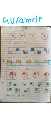 Maths- Making Quarters by Guramrit , Bulu