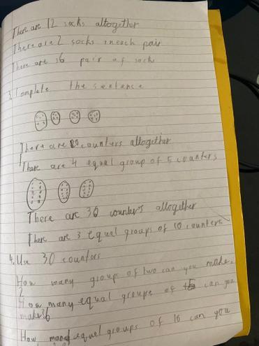 Maths-making equal groups by Pranav, E Kalter