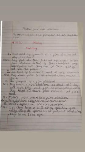 Writing- Firefighter by Ezzah, Azul