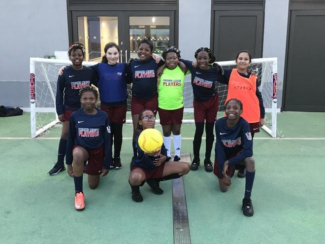 Our girl's football team won their 1st game 6-0!