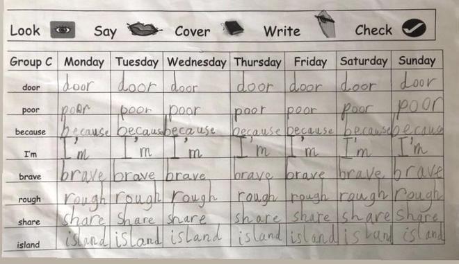 Daily Spelling by Rajashree, Nil