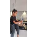 Ishaan is busy baking