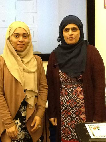 Ms Ali and Mrs Ajmal