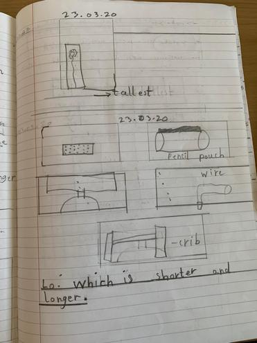 Maths- length and height by Mukhil, Blue class